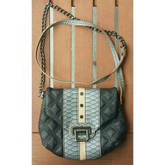RACHEL Rachel Roy quilted crossbody Crossbody with great details to take this basic up a notch! Quilted, snake and neutral lines. Interior pocket. Very minimal wear, if any. 0215 RACHEL Rachel Roy Bags Crossbody Bags