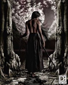 samurai girl by djaledit on DeviantArt Warrior Spirit, Warrior Girl, Warrior Princess, Warrior Women, Ninja, Fantasy Short Stories, Katana Girl, Samurai Art, Samurai Tattoo