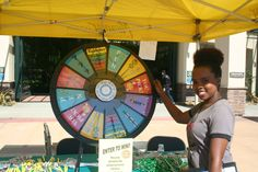 Spin the Wheel and win a prize with San Diego Miramar College! Buy this Prize Wheel at http://PrizeWheel.com/products/tabletop-prize-wheels/tabletop-black-clicker-prize-wheel-12-slot/.
