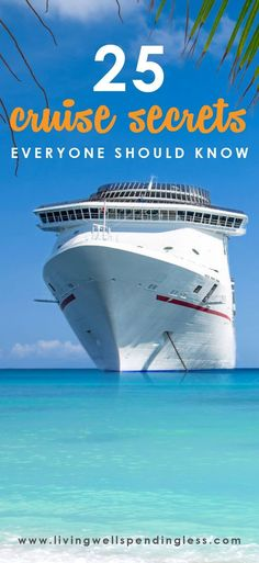 25 Cruise Secrets Everyone Should Know | Honeymoon Cruise Tips | Honeymoon Cruise Tips. Just stop and think about the terrific locations you can go to, from Alaska to the Caribbean, the Norwegian Fiords to the Hawaiian islands, and numerous more locations..   #honeymoon #inspiration #Travel - Tips! Tricks! Hacks!
