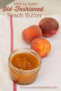 How to make homemade peach butter recipe