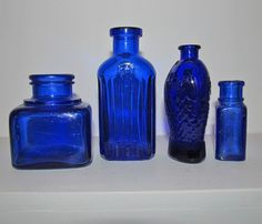 colbalt blue bottles