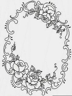Ideas for embroidery flowers pattern templates floral design Embroidery Letters, Embroidery Flowers Pattern, Paper Embroidery, Floral Embroidery, Flower Patterns, Embroidery Stitches, Embroidery Designs, Folk Embroidery, Lace Patterns