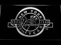 New York Yankees 50th Anniversary Logo LED Neon Sign