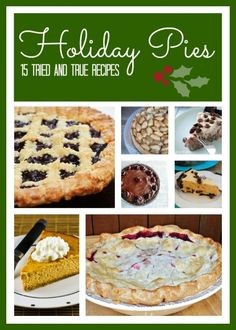 Countdown To Christmas:  Tried And True Holiday Pies