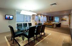 Newcastle Penthouse Alterations by Webber Architects (Newcastle AUS) #interiordesign #diningroom #lighting
