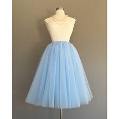 Tulle skirt, adult tutu, bridesmaid tulle skirt, blue tulle skirt,... ($55) ❤ liked on Polyvore featuring skirts, tulle tutu, blue tulle skirt, mid calf skirts, tutu midi skirt and blue tutu
