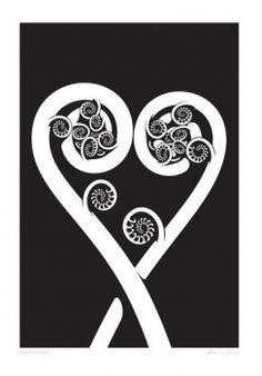 Check out the deal on Aroha Ferns by Glenn Jones at New Zealand Fine Prints Maori Symbols, Cool Wall Art, Maori Art, Ceramic Wall Art, Kiwiana, Print Artist, Ferns, Painted Rocks, Wall Decals