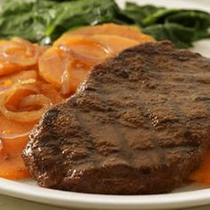 LEBANESE RECIPES: Moroccan-Rubbed Grilled Steak & Sweet Potatoes