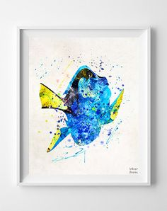 Dory Print Finding Nemo Poster Disney Poster by InkistPrints