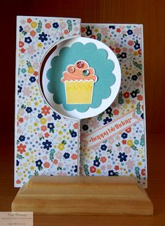 Circle Flip Birthday Card , Circle Card Thinlit, using the Silhouette Cameo to make matts