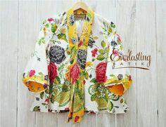 Love this floral print batik blouse