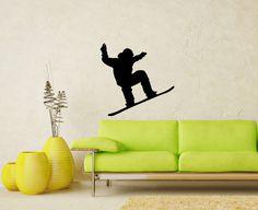 Snowboard Snow Speed Winter Extreme Sport Snowboarder Wall Vinyl Decal Sticker Housewares Design Murals Interior Decor Home Bedroom SV5054