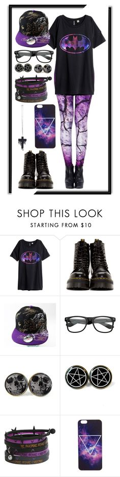 """Purple Punk"" by minyxxngi ❤ liked on Polyvore featuring H&M and Dr. Martens"