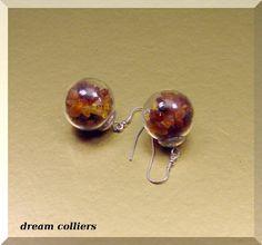 Ohrhänger - spezielle Bernsteinohrhänger - im Glas gefangen - ein Designerstück von Dream-Colliers bei DaWanda