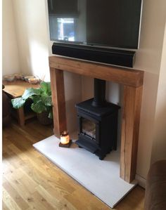 Solid Oak Fire Place Beam - handcrafted at Celtic Oak, Penclawdd, South Wales Fireplace Beam, Range Cooker, Ceiling Beams, Solid Oak, Shelving, Home And Garden, Home Appliances, Flooring, South Wales