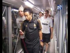 Real Madrid  Real Madrids arrival in Barajas airport