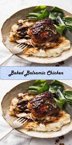 - Sweet Home Baked Balsamic Chicken, Beef, Baking, Food, Bread Making, Meal, Patisserie, Backen, Essen