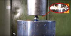 Trying to crush the mighty bearing ball with hydraulic press Bearing-ball, coins and nut vs. our press