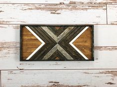 Provincial & Black X. Reclaimed Wood Wall Art. Pallet Art. Home Decor. Wall Decor. Reclaimed Wood. Wood Mosaic Art.