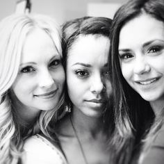 I have spent the past six years of my life with these two women. So many life changes so many milestones. To shoot our final scene as a trio yesterday was one of the most heartbreaking and beautiful things I've ever experienced. I am grateful for them as well as Julie Plec and Kevin Williamson for bringing us strangers together...there will never be another cast as close as us. PHOTO BY @chrisgrismer #TVD
