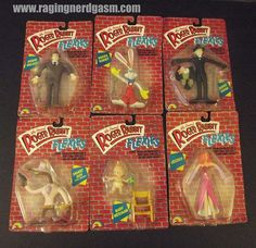 Who Framed Roger Rabbit Bendy Toys by LJN. Check out our flickr at http://www.flickr.com/photos/ragingnerdgasm/sets/72157630575332860/