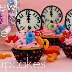 New Years cupcakes