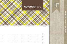 2012 Wall Agenda Calendar - Holiday 2011 DIY Digital PDF Printable