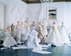 Take A Peek Inside Grace Coddington: The American Vogue Years #refinery29  http://www.refinery29.com/2016/08/121548/grace-coddington-the-american-vogue-years#slide-9  This shoot by Tim Walker for Vogue's May 2014 issue was inspired by a 1948 photograph by Cecil Beaton of models wearing satin dresses by Charles James. The story was timed to a retrospective exhibition on the designer at the Met's Costume Institute (which was also the theme of that year's Met Ball). Models Grace Mahary, Maja…
