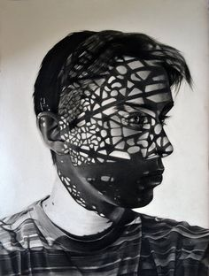 Charcoal Portraits Portray Intense Drama and Emotion Through Shadows - My Modern Met