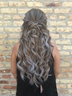 waves look great on every hair length, but this hair model's cascading curls are giving us major rapunzel feels 😍 hairstyle by goldplaited prom hairstyle crown braid twists + curls prom hair prom hairstyle for long hair hair color ideas Curls For Long Hair, Long Curly Hair, Curly Hair Styles, Prom Hairstyles For Long Hair Half Up, Homecoming Hairstyles, Box Braids Hairstyles, Elegant Hairstyles, Wedding Hairstyles, Hairstyle Ideas