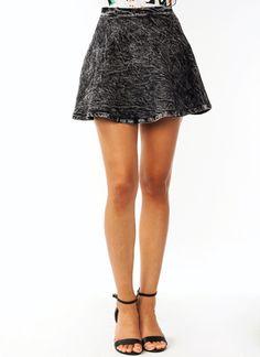 Acid Wash Skater Skirt $33.20 I prefer a light wash =\