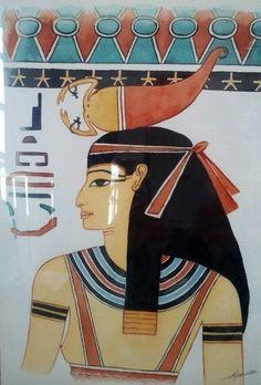La déesse Selkis. Aquarelle, Christine Monsion