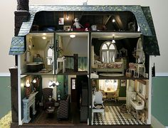 The Haunted Heritage by Otterine's Miniatures - Lots of Details of the House on this Blog