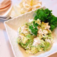 レシピあり!目分量でも大丈夫!アボカドとカッテージチーズの塩サラダ♡ | n*さんのお料理 ペコリ by Ameba - 手作り料理写真と簡単レシピでつながるコミュニティ -