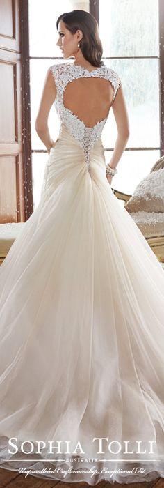 The Sophia Tolli Fall 2015 Wedding Dress Collection - Style No. Y21508 www.sophiatolli.com #weddingdresses #weddinggowns