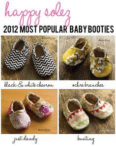 Most popular baby booties of 2012: Happy Solez