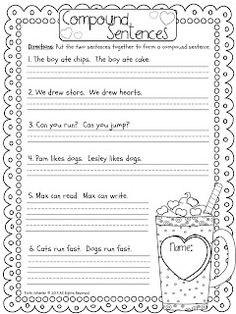 Printables Compound Sentence Worksheet circles the ojays and words on pinterest free compound sentences worksheet 1st grade fantabulous merry go rounds freebies