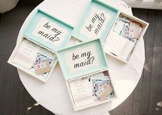OMG, obviously I won't have any need for this but I thought it was so cute!      ... Pop the question to your bridesmaids