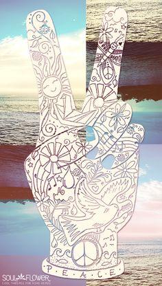 Peace, Love, Summer #soulflower | Soul Flower Shop | SoulFlower