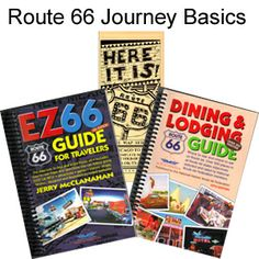 Route 66 Journey Package - EZ66 Guide, Route 66 Dining & Lodging Guide, and Map Series