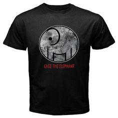 New Cage The Elephant Rock Band Logo Men's Black T-Shirt Size S M L XL 2XL 3XL