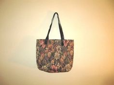 vintage floral tapestry tote by mellowrabbit on Etsy, $24.00