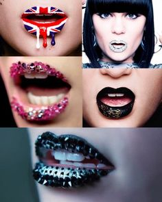 she always has the cleanest yet most creative lips