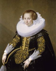 ПАУЛЮС МОРЕЛСЕ ( PAULUS MOREELSE ) (1571 - 1638) - Portrait of Mrs van Voorst (1628, The Minneapolis Institute of Arts)