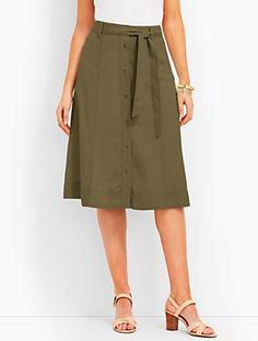 TENCEL® Button-Front Skirt | Talbots