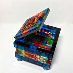 Translucent LEGO Jewelry Box 03 by Val Glaser on Etsy.