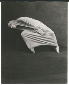 "Choreographer Martha Graham in ""Lamentation,"" circa 1930, by Soichi Sunami"