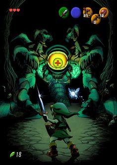 Link vs Gohma - The Legend of Zelda: Ocarina of Time