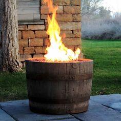 Wine Barrel Fire Pit - Weathered #LearnShopEnjoy